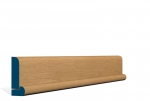 19 x 69mm Pre-Varnished Solid White Oak Bullnose Architrave, inc. Hockey Stick (5x2.13m)