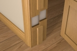 Pre-Varnished Solid White Oak Door LINING KIT (inc Square Door Stop)