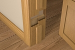 Pre-Varnished Solid White Oak Faced Door LINER (inc Square Door Stop)